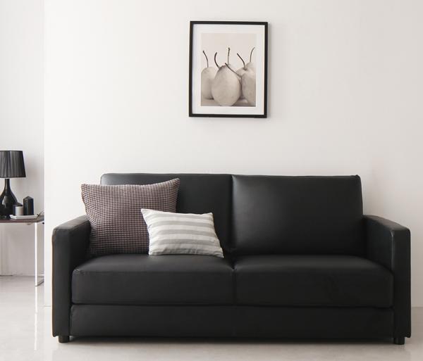 ソファーベッド 2.5人掛け159cm【ブラウン】 ふたり寝られるモダンデザインソファベッド【Perwez】ペルヴェ【代引不可】