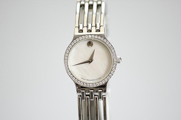 "S / return-friendly""MOVADO retail Museum ladies quartz DIA bezel shell characters Edition 84.A1.1821.S"