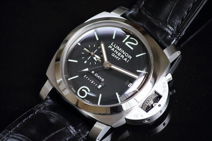 《送料無料/返品可》 パネライ ルミノール1950 8デイズ GMT PAM00233 メンズ 手巻き 【中古】【smtb-TD】【saitama】【05P06jul10】【MB-KP】
