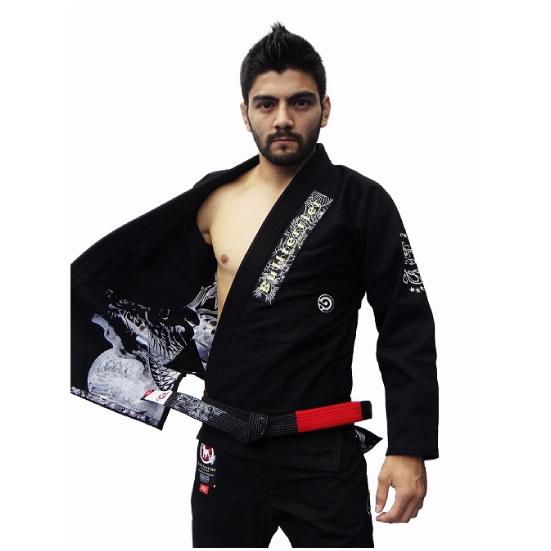 ブルテリア BULL TERRIER bjk-012 BULLTERRIER 柔術衣 Mushin Ver.8 黒