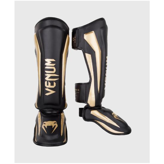 VENUM ヴェナム UFC メーカー在庫限り品 ONE MMA 総合 格闘技 キック ボクシング ELITE ブラック 新品 STANDUP VENUM-1394-126 ゴールド キックボクシング レガース ベナム - シンガード