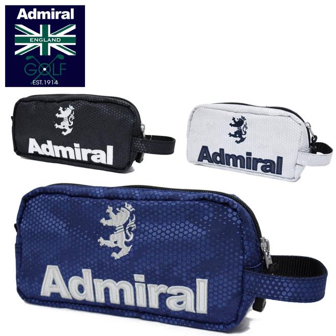 カートバッグやキャディーバッグのポケットにそのまま入る大きさ 送料無料激安祭 アドミラルゴルフ ジャガードポーチ ADMIRAL GOLF メンズ ADMZ1AE4 小物入れ 売却 レディース ドットカモフラージュ