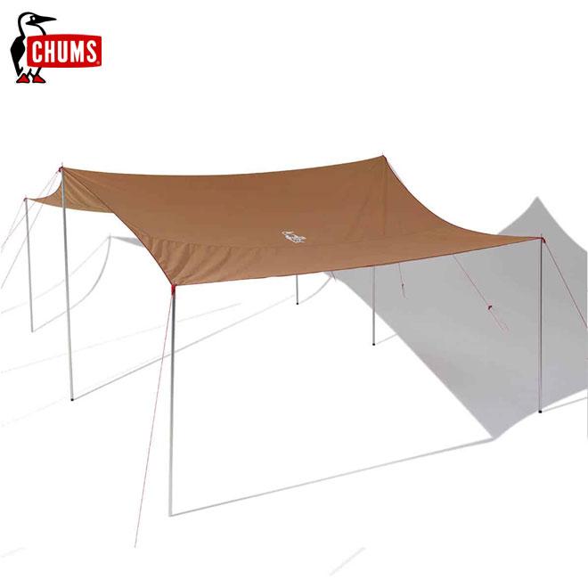 綿 家族 コットン ポールなし)キャンプ CH62-1386 タープ Booby アウトドア Tarp T/C 4人-6人用(CHUMS チャムス Square ブービーT/Cタープスクエア BBQ ファミリー