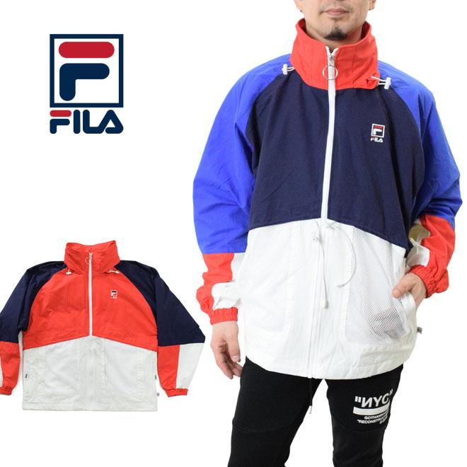 ナイロン) zip フィラ メンズ FILA jacket レディース (FM9535 ビッグシルエット フルジップジャケット Full