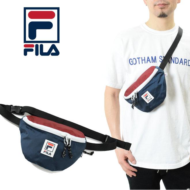 ユニセックスに使えるフレッシュなスポーティデザイン FILA フィラ ウエストバッグ 斜め掛けバッグ お洒落 FDH001 バッグ レディース ショルダーバッグ 卓出 メンズ ポーチ