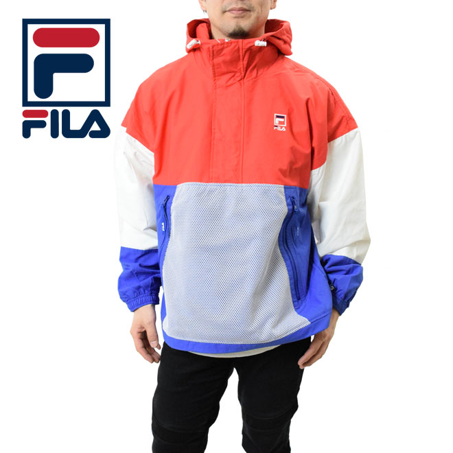 FILA フィラ アノラックジャケット (FM9546 Anorak ビッグシルエット メンズ レディース ナイロン プルオーバー)