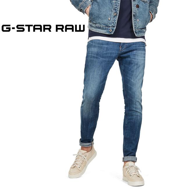 スキニーなフィットが魅力のRevendジーンズ SEAL限定商品 ジースター ロウ スリムデニムパンツ REVEND ジーンズ G-STAR スリム メンズ RAW タイト 淡色 シンプル 発売モデル 51010-8968-6028