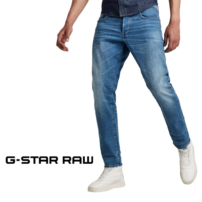 与え クラシックな5ポケット構造のウェスタンスタイルのジーンズ ジースター ロウ 3301 ストレートテーパードジーンズ G-STAR 正規品送料無料 STRAIGHT 51003-B631-A795 メンズ JEANS TAPERED RAW