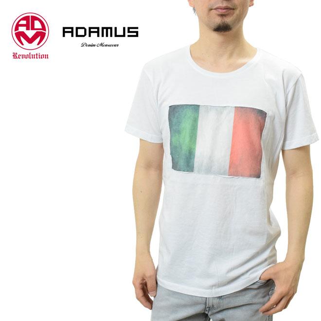 アダムス デニム Tシャツ イタリア国旗柄 クルーネック (メンズ MU063-2 ADAMUS Denim Revolution safari系 イタリア ハマキホ )