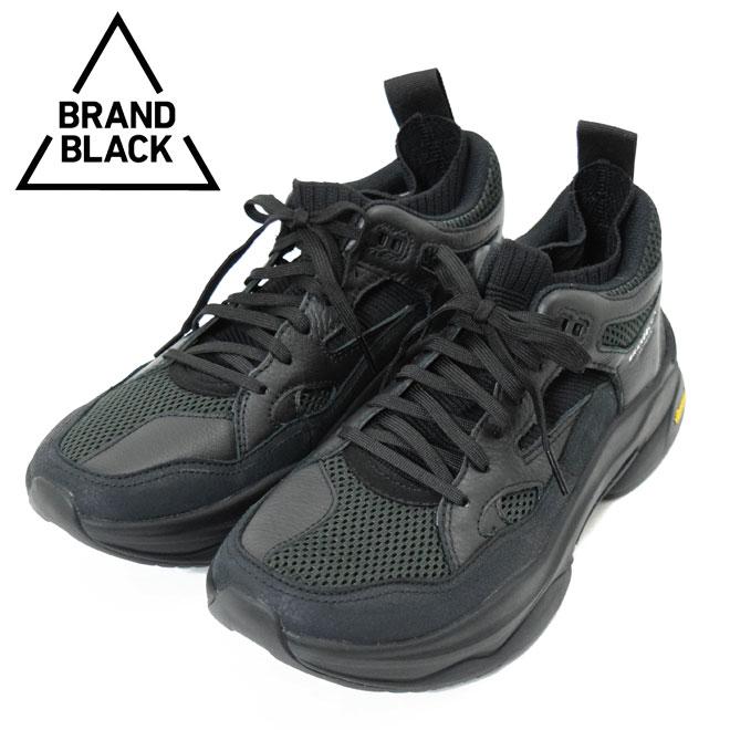 ブランド ブラック SAGA スニーカー(BRANDBLACK 426BB-OG-BBK 46160-09 サガ ブラック 黒 ダッドシューズ)