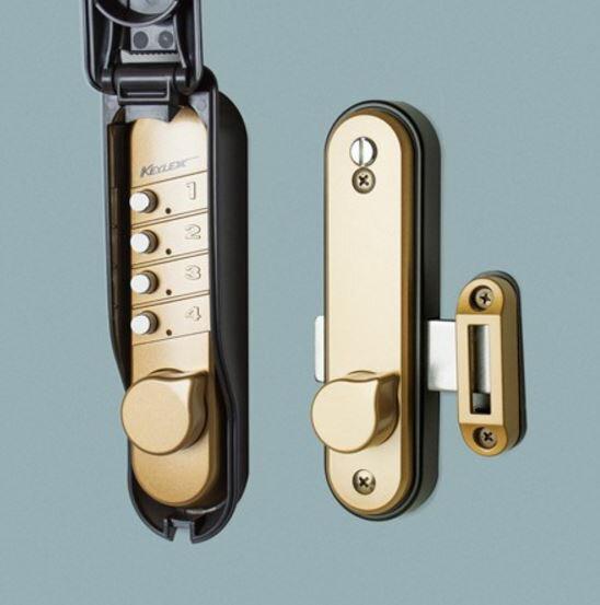 長沢 キーレックス047 面付本締錠 毎日がバーゲンセール 安心と信頼 04704C MU メタリックアンバー塗装 片面ボタンタイプ 片面カバー付