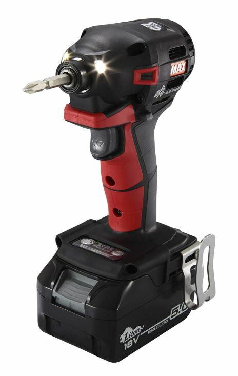 MAX(マックス) 充電式ブラシレスインパクトドライバ PJ-ID152R-B2C/1850A(赤) 18V(2.5Ah)
