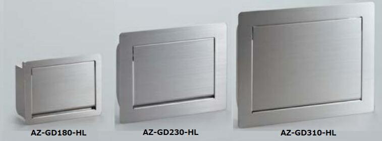 蓋がゆっくりとスムーズに閉まります AL完売しました サビに強く水回りでもご使用いただけます スガツネ ランプ LAMP ステンレス鋼製 AZ-GD180-HL 評価 AZ-GD型 ダンパー付屑入投入口 蓋付