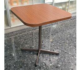 【数量限定/特価/激安】 ガーデン・カフェテーブル (木目ブラウン) ベベルエッジ 【600×600mm】 スクウェア / 沖縄・離島 発送不可
