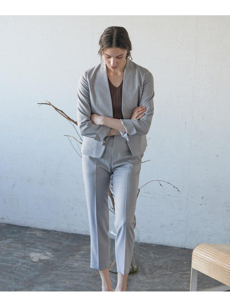 CLEAR IMPRESSION レディース パンツ ジーンズ クリアインプレッション SALE ふるさと割 60%OFF Fashion Rakuten RBA_E グレー 半端丈パンツ ベージュ クロップド エステルレーヨンテーパードパンツ 海外並行輸入正規品