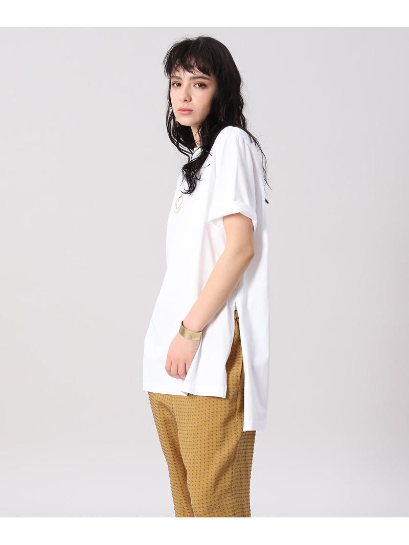 INED レディース カットソー イネド SALE 60%OFF YVON クルーネックTシャツ Tシャツ A-GIRL'S ホワイト Fashion RBA_E 送料無料 激安卸販売新品 Rakuten 安売り