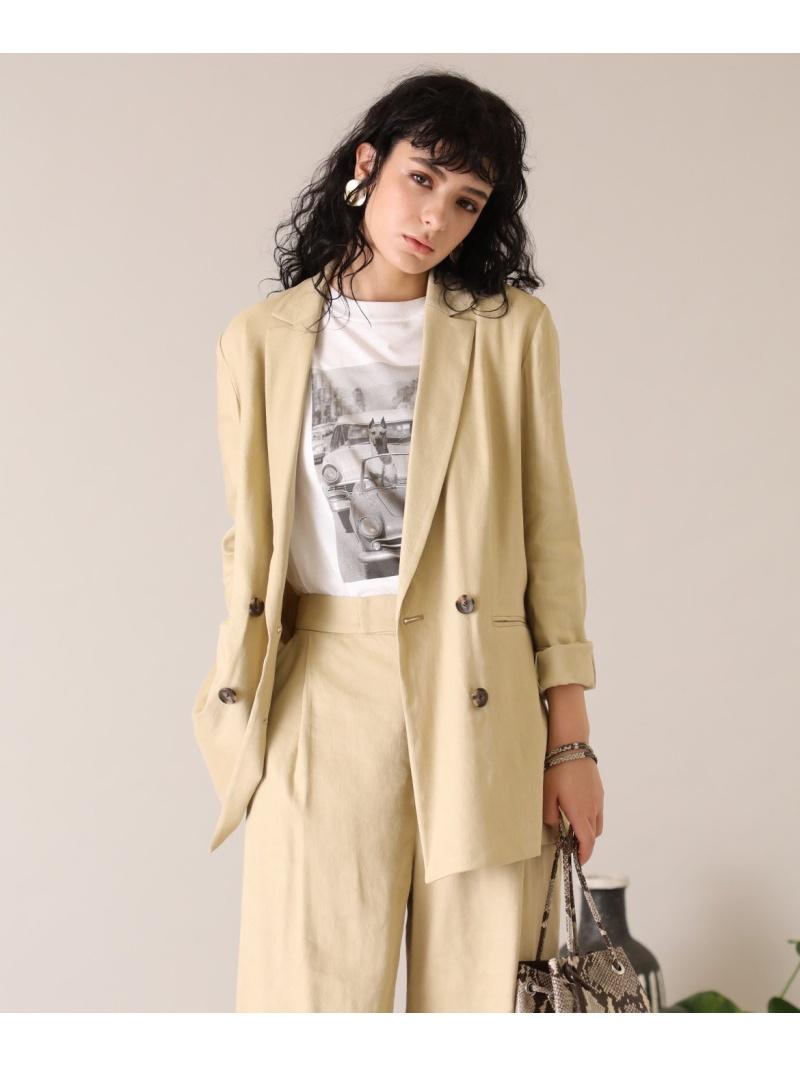 INED レディース コート 送料無料 ジャケット イネド SALE 75%OFF ダブルブレストジャケット メーカー在庫限り品 テーラードジャケット ブラウン RBA_E PONTETORTO Rakuten Fashion ホワイト
