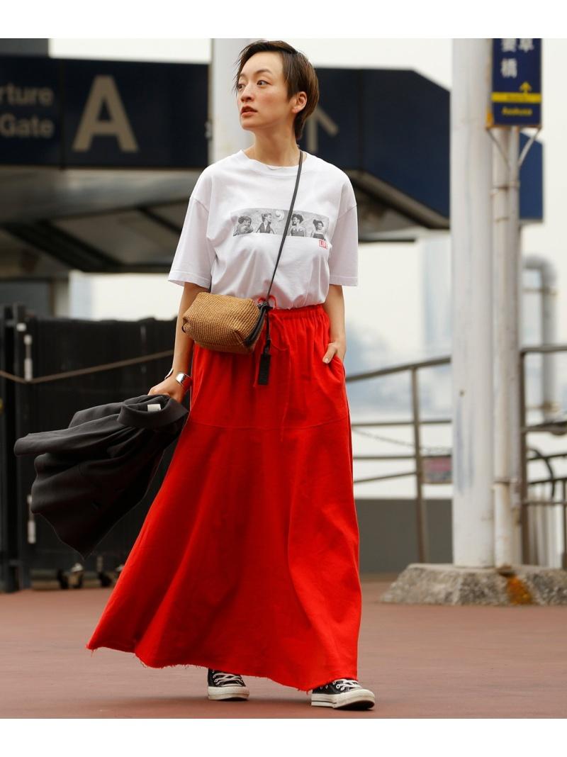 大規模セール INED 卓越 レディース スカート イネド SALE 70%OFF フレアロングスカート ロングスカート レッド ベージュ 送料無料 ブラウン Rakuten RBA_E Fashion