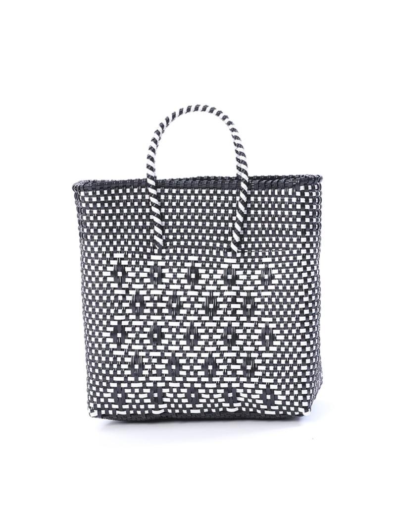 新商品 公式サイト I.T.'S. international レディース バッグ イッツインターナショナル SALE 10%OFF RBA_E Rakuten スクエアバスケットバッグ Fashion ブラック 送料無料 かごバッグ