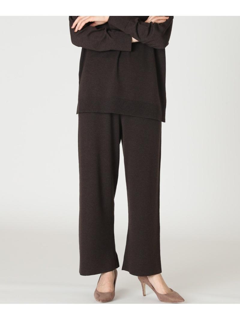 I.T.'S. international レディース 新色追加して再販 パンツ ジーンズ イッツインターナショナル SALE 49%OFF RBA_E フルレングス 爆買いセール 送料無料 ワイドニットパンツ Rakuten Fashion ブラウン