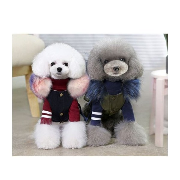 可愛いチョッキ服 綿入れ 売れ筋ランキング フード付き犬ベスト ペット洋服 高価値 ドックウェア 胸元止め 犬服 フード付き綿入りベスト