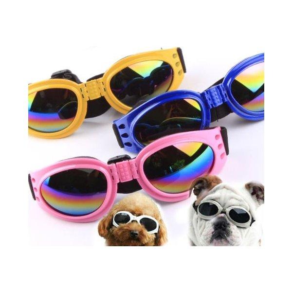 紫外線対策用 ゴーグルメガネ 高い素材 サングラス 紫外線対策 ゴーグル 捧呈 白内障予防 中型犬用メガネ