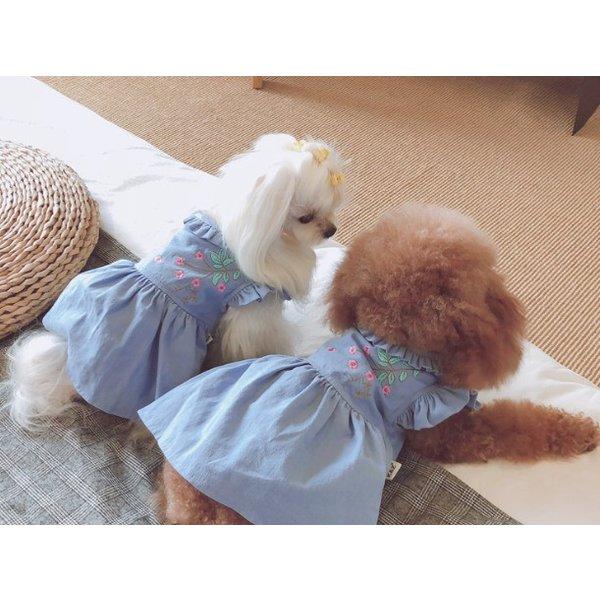 お洒落なフレアスカートで可愛くてメロメロ フレアスカートとホック 犬服 ペット用スカート 激安☆超特価 有名な