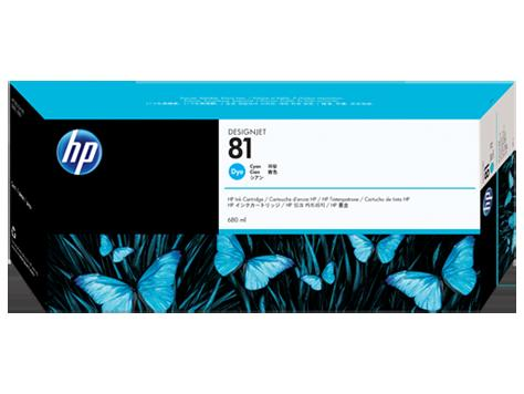 hp純正品 HP81 C4931A シアンインク