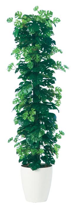 キャッシュレス5%還元対象 観葉植物 インテリア 大型 人工観葉植物 消臭・抗菌 UDD触媒 ヒメモンステラヘゴ-DX 150cm 送料無料 フェイクグリーン