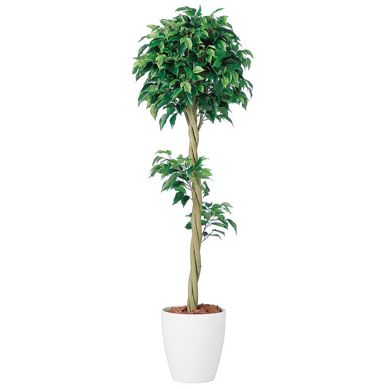 キャッシュレス5%還元対象 観葉植物 造花 大型 人工観葉植物 消臭・抗菌 UDD触媒 ベンジャミン トピアリー 150cm 送料無料 フェイクグリーン