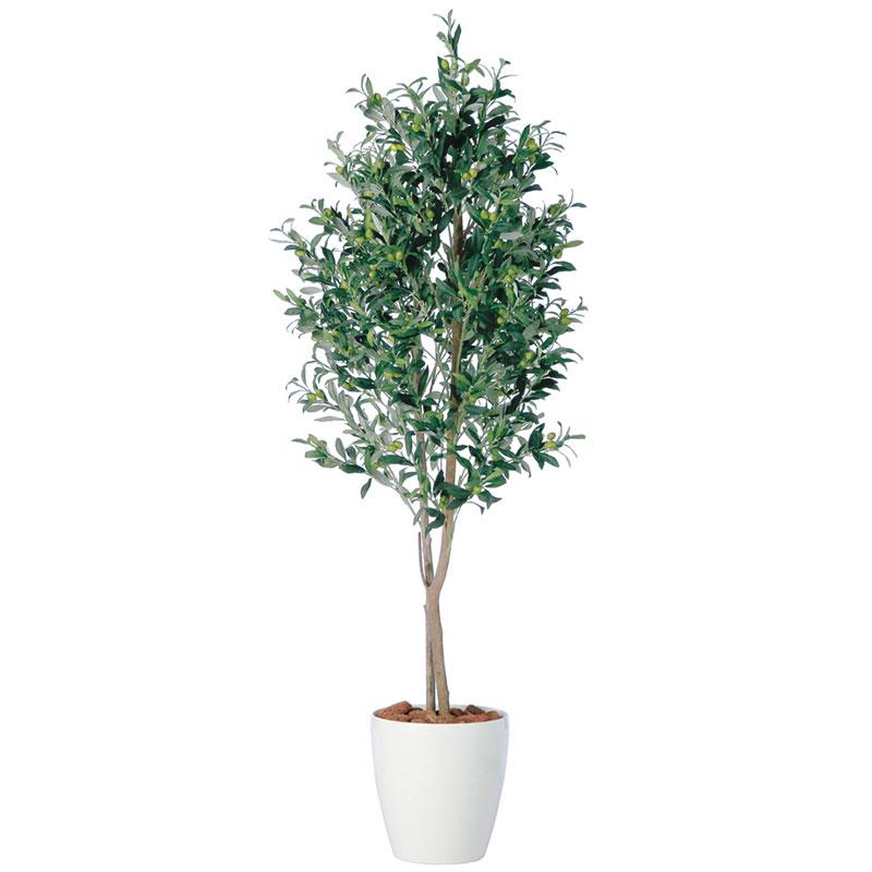 キャッシュレス5%還元対象 観葉植物 造花 大型 人工観葉植物 消臭・抗菌 UDD触媒 ライブオリーブデュアル 150cm 180cm 200cm 送料無料 フェイクグリーン
