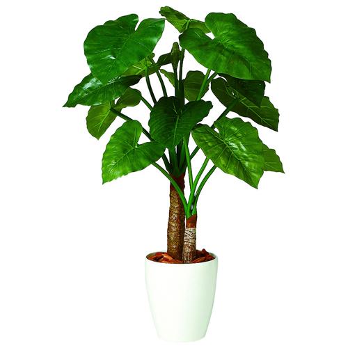 キャッシュレス5%還元対象 観葉植物 インテリア 造花 大型 人工観葉植物 消臭・抗菌 UDD触媒 クワズイモ ダブル 100cm 送料無料 フェイクグリーン