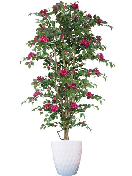 キャッシュレス5%還元対象 観葉植物 大型 造花 リビング 人工観葉植物 消臭・抗菌 UDD触媒 ブーゲンビリアツリー 180cm ブーゲンビリアツリー 送料無料 フェイクグリーン