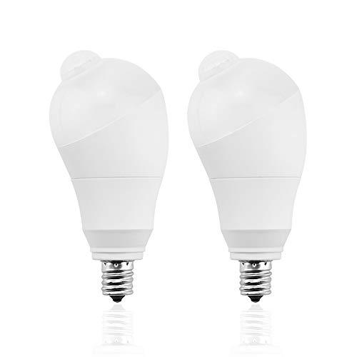 LED電球 人感センサー電球 E17 50W形相当 商店 テレビで話題 5W センサーライト 自動点灯 斜め 360度回転 電 消灯 省エネ 検知角度調節可能 防犯ライト