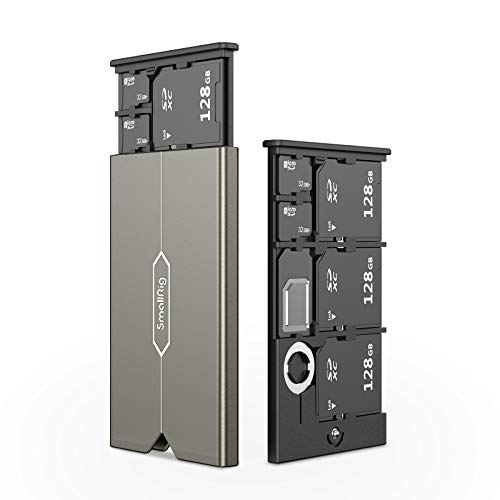 SmallRig SDカード用ケース メモリカードケース 送料無料お手入れ要らず Micro 超美品再入荷品質至上 SDカード用 6枚収納可能-2832 SIMカード用