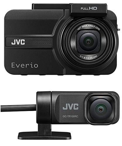 JVC 送料無料(一部地域を除く) 爆買い送料無料 KENWOOD GC-TR100-B 前後撮影対応2カメラドライブレコーダー Everio フルハイビジョン microSDHCカード付属 GPS搭載 WDR ブラッ