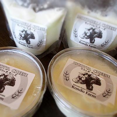 【送料無料】 手づくり チーズ セット モッツァレラ リコッタ 南房総 酪農 【近藤牧場】