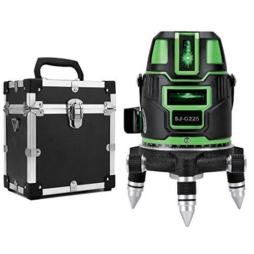 デポー 5ライン グリーンレーザー墨出し器 5線6点 捧呈 回転レーザー線4方向大矩照射モデル 本体 メーカー1年保証 標準セット
