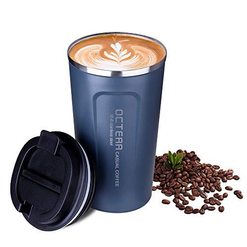 OCTERR マグカップ 保温 コーヒーカップ コンビニカップ 携帯マグ 保冷 蓋付き 18%OFF 毎日続々入荷 真空断熱 直接ドリ 持ち運び ステンレス製 タンブラー
