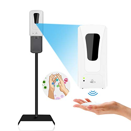 Lovcoyo 自動手指消毒器 アルコールディスペンサー 1200ML 非接触式手指消毒器 大容量 細菌ウイルス対策 自由移動 操作簡単可能な自