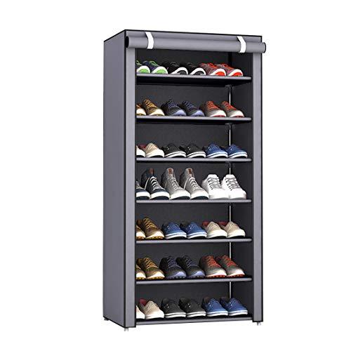 Rerii シューズラック カバー付き 下駄箱 格安店 組み立て式 靴収納 ラック 靴入れ 薄型 セールSALE%OFF 靴収納ボックス シューズボックス 大容量 靴箱 スリ