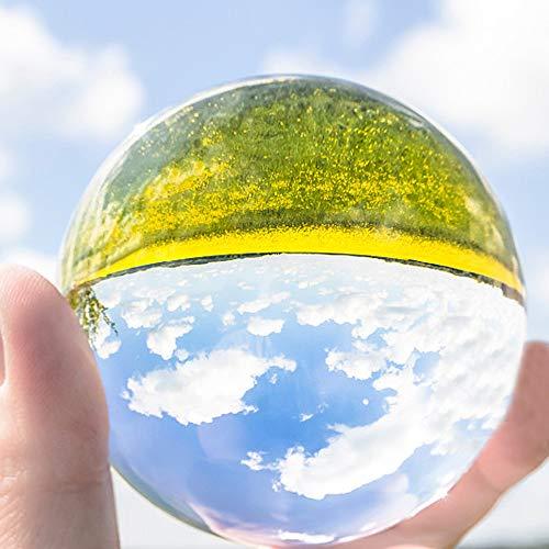 人気急上昇 CrystalLover水晶玉 水晶球 無色透明 2020春夏新作 クリア台座付き 人工 溶錬 話題の水晶玉撮影 風水グッズ クリスタ 宙玉撮影 開運祈願インテリア