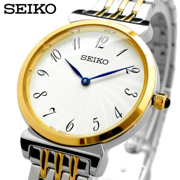 割引発見 【スーパーセール】 【クーポン配布中】 【ポイントアップ】 送料無料 新品 腕時計 SEIKO セイコー 海外モデル クォーツ ビジネス カジュアル レディース SFQ800P1 [並行輸入品], ニタグン 59c6549b