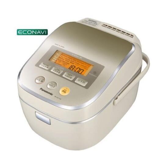 220V-50Hz専用、海外向けパナソニック スチームIHジャー炊飯器 SR-SAT102-N (ノーブルシャンパン) 1L/5.5Cups