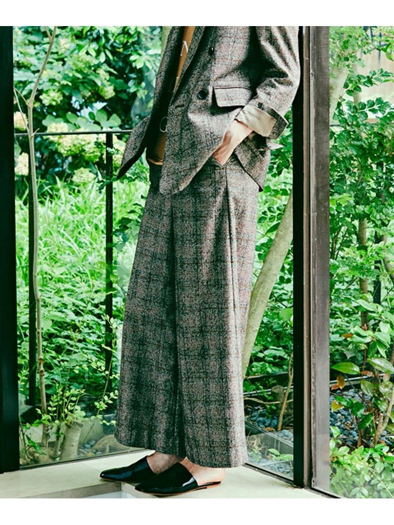 [Rakuten Fashion]ワイドパンツ mjuka レイカズン パンツ/ジーンズ フルレングス ブルー ネイビー ブラウン【送料無料】
