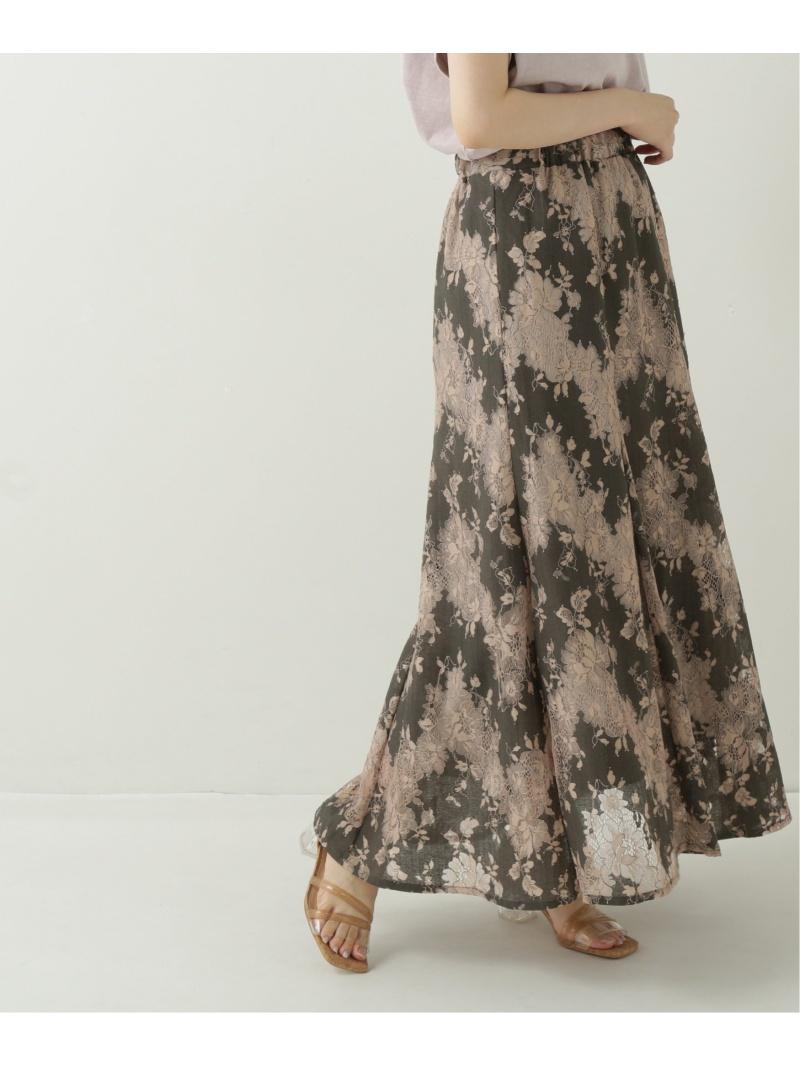 Ray Cassin レディース 激安セール スカート レイカズン SALE 28%OFF カラーレーススカート 激安格安割引情報満載 Rakuten グレー ブルー RBA_E 台形スカート Fashion コクーンスカート ブラック