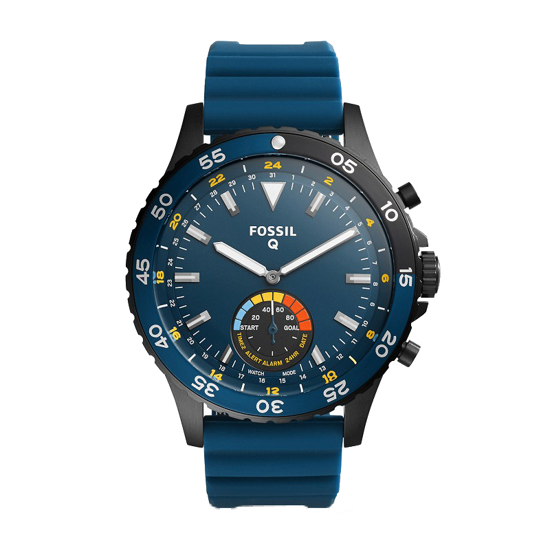 フォッシル スマートウォッチ Fossil FTW1125 Q Hybrid Smartwatch Crewmaster Blue Silicone海外お取り寄せ商品 米国正規商品 送料無料【smtb-tk】