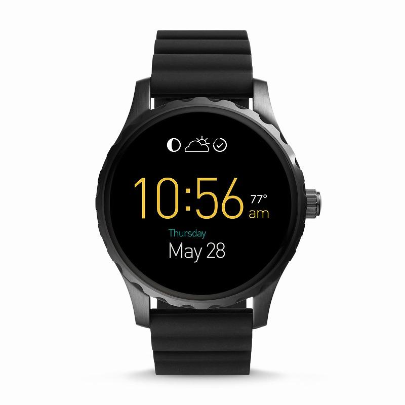 フォッシル スマートウォッチ Fossil FTW2107 Q Gen 2 Smartwatch Marshal Black Silicone海外お取り寄せ商品 米国正規商品 送料無料【smtb-tk】