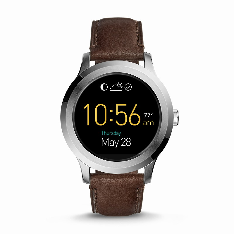 フォッシル スマートウォッチ Fossil FTW2119 Q Gen 2 Smartwatch Founder Dark Brown Leather海外お取り寄せ商品 米国正規商品 送料無料【smtb-tk】