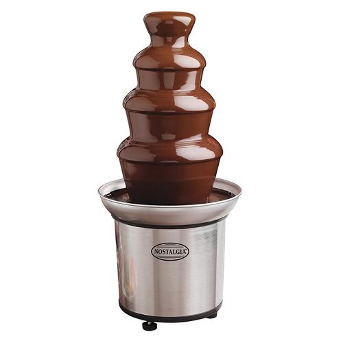 ノスタルジア CFF986 4層 チョコレートファウンテンチョコレートフォンデュ チョコレートタワー Nostalgia CFF986 4-Tier Chocolate Fondue Fountain
